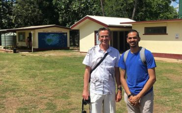 PhD student Sivendra Michael with supervisor Professor Andreas Neef