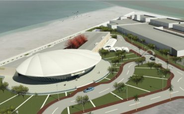 Artist impression of the Marine Innovation Park in Umm Al Quwain, United Arab Emirates
