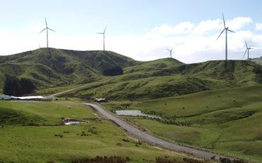nz wind farm stock image