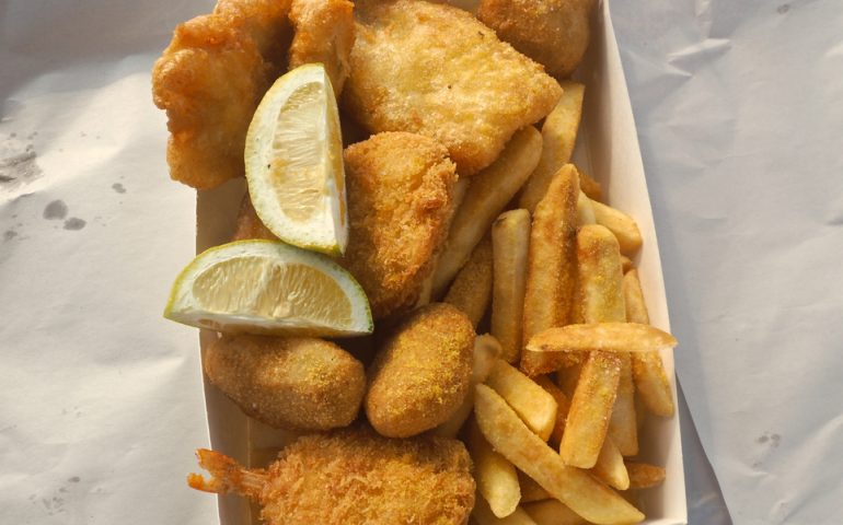 fish-and-chips stock image