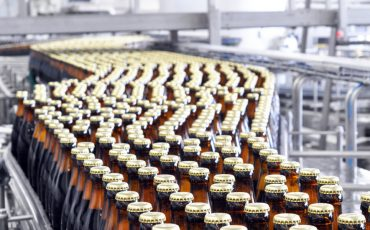 beer manufacturing stock image