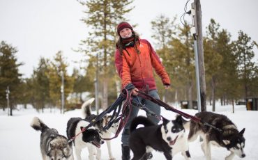 Husky health, dogsled tours and frostbite checking central to vet student's win